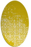 rug #1101990 | oval white faded rug