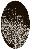 rug #1101998 | oval brown graphic rug