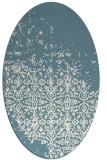 rug #1102006 | oval white faded rug