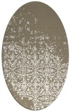 rug #1102010 | oval white faded rug