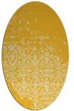 rug #1102014 | oval yellow faded rug