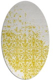 rug #1102022 | oval yellow faded rug