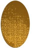 rug #1102026 | oval yellow graphic rug