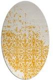 rug #1102050 | oval light-orange faded rug