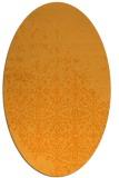 rug #1102058 | oval light-orange faded rug