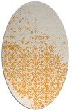 rug #1102062 | oval white faded rug