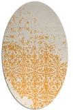 rug #1102062 | oval light-orange traditional rug