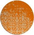rug #1102434 | round orange traditional rug