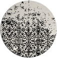 rug #1102438 | round black graphic rug