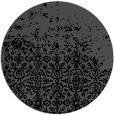 rug #1102442 | round black graphic rug