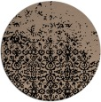 rug #1102446 | round black traditional rug