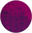 rug #1102470 | round blue faded rug