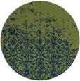 rug #1102478 | round blue graphic rug