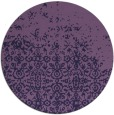 rug #1102534 | round blue-violet rug