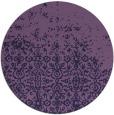 rug #1102534 | round purple damask rug