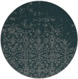 rug #1102566 | round blue-green faded rug