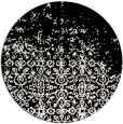 rug #1102578 | round black traditional rug