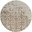rug #1102590 | round mid-brown damask rug