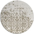 rug #1102594 | round white faded rug