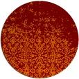 rug #1102638 | round red-orange rug