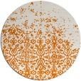 rug #1102642 | round orange damask rug