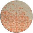 rug #1102646   round orange faded rug