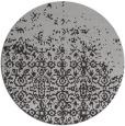 rug #1102650 | round orange damask rug