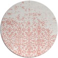 rug #1102666 | round pink traditional rug