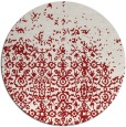 rug #1102694 | round red graphic rug