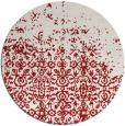 rug #1102694 | round red damask rug
