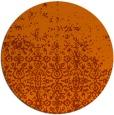rug #1102702 | round red-orange traditional rug