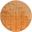 rug #1102706 | round red-orange traditional rug
