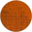 rug #1102710 | round red-orange traditional rug