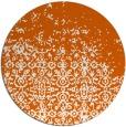 rug #1102714   round red-orange damask rug