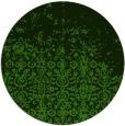 rug #1102718 | round light-green damask rug