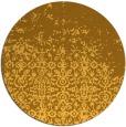 rug #1102762 | round light-orange damask rug