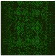 rug #1103230 | square green damask rug