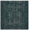 rug #1103302 | square blue-green damask rug