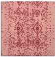 rug #1103398 | square pink damask rug