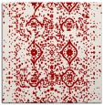rug #1103422 | square red traditional rug