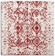 rug #1103430 | square red traditional rug