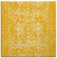 rug #1103486 | square yellow damask rug