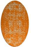 rug #1103538 | oval orange borders rug