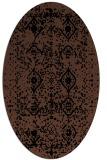 rug #1103554   oval brown damask rug