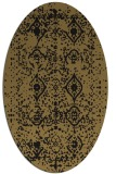 rug #1103566 | oval mid-brown faded rug