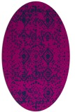 rug #1103574   oval pink damask rug