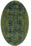 rug #1103582 | oval green popular rug