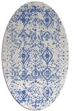 rug #1103586 | oval blue borders rug