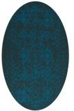 rug #1103606 | oval blue faded rug