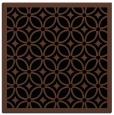 rug #110361 | square brown circles rug